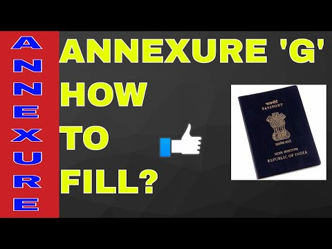 HOW TO FILL ANNEXURE 'G' FOR PASSPORT? ALL INFO WITH SAMPAL! ON YOUR DEMAND!! (HINDI)