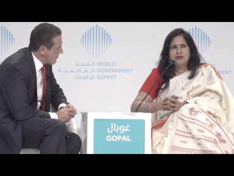 مقابلة مع كارونا غوبال خلال القمة العالمية للحكومات   Interview with Karuna Gopal during WGS
