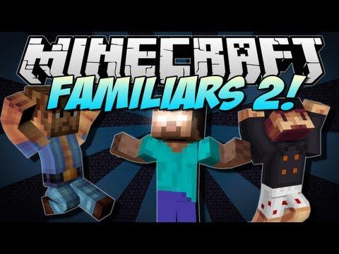 Minecraft | FAMILIARS 2! (Herobrine, Chuck Norris & Notch!) | Mod Showcase [1.5.2]