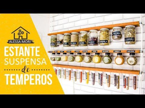 ⭐ ESTANTE DE TEMPEROS SUSPENSA COM CORDAS | DIY EM 5 PASSOS SIMPLES