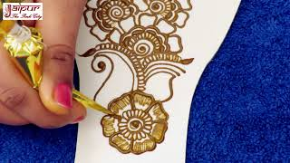 Beautiful Arabic Henna Mehndi Design For Hands : New Latest Mehndi Design #165 @ jaipurthepinkcity
