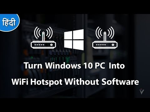 How To Turn Windows 10 PC  Into a WiFi Hotspot Without Software 2018