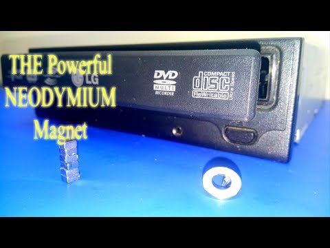 How To Get The Powerful Neodymium Magnets From An Old CD / DVD Drive