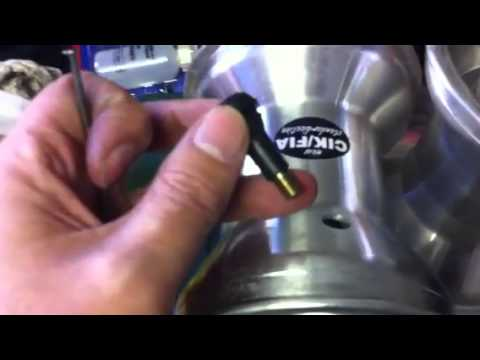 How to insert valve stems into wheel rims