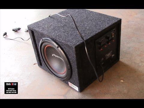 DIY install: Dayton Audio SA-70 subwoofer amp into a BBox enclosure