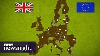 What would happen to world trade if UK left EU? BBC Newsnight