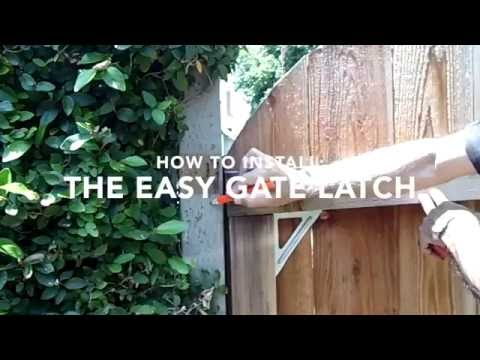 The Easy Gate Latch  How to Install no narration 1280