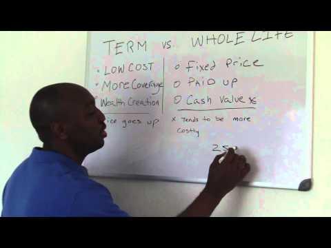Term vs. Wholelife - Apopka Life Insurance - 407-844-9831