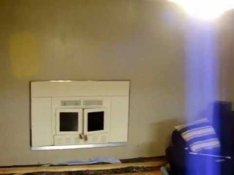 Fireplace and wall panel remove