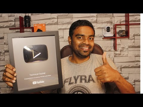 YouTube Silver Play Button - Live Unboxing - Shocking Gift for Me.