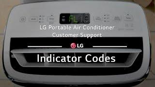 LG Portable Air Conditioner - Indicator Codes