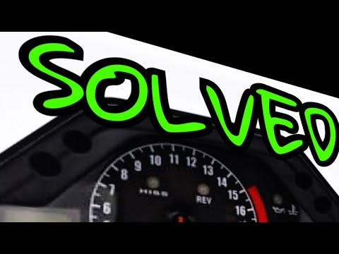 HOW TO FIX SPEEDOMETER GUAGE ON CBR 600. Cluster FIXED Change time and MPH