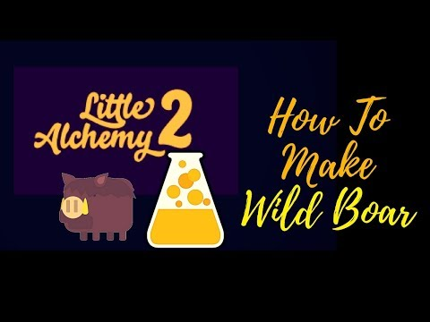 Little Alchemy 2-How To Make Wild Boar Cheats & Hints