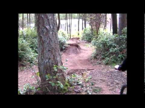 Back yard bike jumps