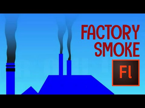 Flash Animation Tutorial - Animate Factory and Car Smoke in Flash