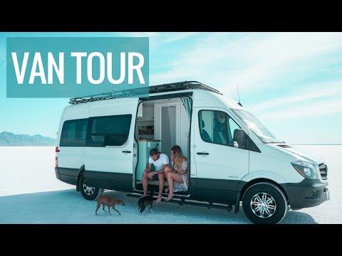 VAN LIFE TOUR: DIY Sprinter Van Conversion With Bathroom