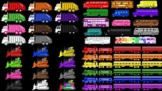 Vehicle Colors Collection - Learn Colors with Trains & Street Vehicles - The Kids
