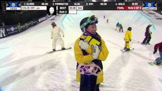 Chloe Kim wins Silver in Snowboard SuperPipe - Winter X Games