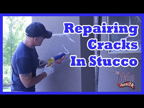 Painting Stucco & Repairing Cracks With Caulking & Elastomeric Paint