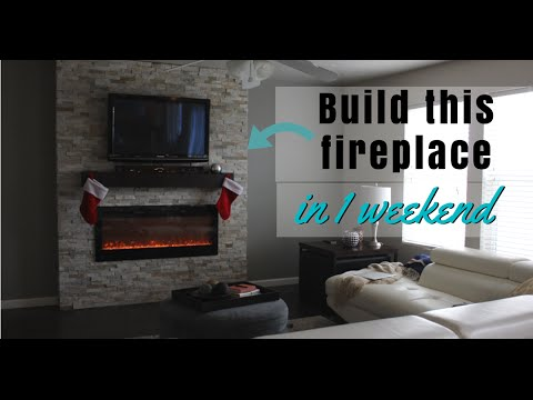DIY: How-To Build A Fireplace (In 1 Weekend)