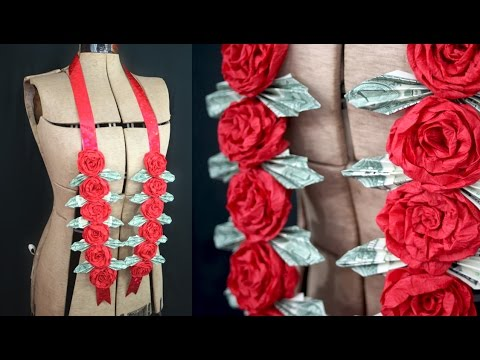 How to Make a Money Rose Lei for Graduation