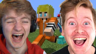TommyInnit Escaping Minecraft's Funniest Prison Reaction