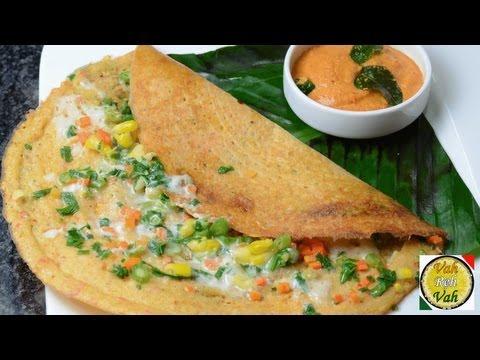 Mix Veg Multi Dal Adai Cheese Dosa - By VahChef @ vahrehvah.com