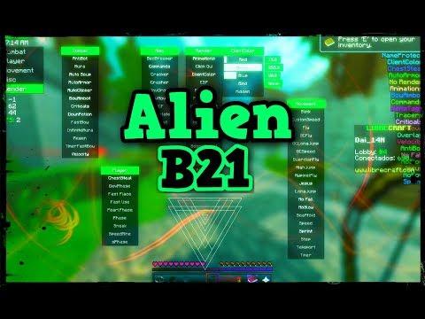 COMO DESCARGAR E INSTALAR EL NUEVO HACK PARA MINECRAFT 1.8? Alien B21 Hacked Client | Killaura OP