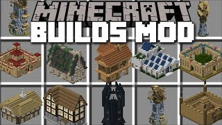 Minecraft INSTANT STRUCTURES MOD / METEOR CRASH WITH ISM BUILDING HOUSES!! Minecraft