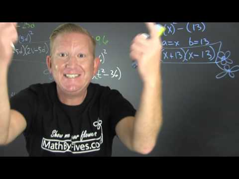 Factoring the difference of squares