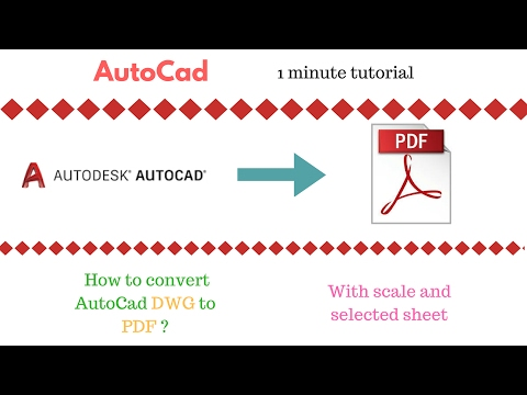 AutoCad Convert DWG TO PDF format (1 minute tutorial)