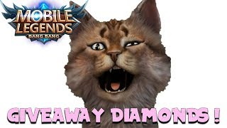 GIVEAWAY DIAMOND MOBILE LEGENDS ! #12