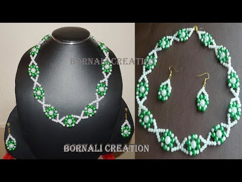 how to make pearl beads jewellery set in super easy way|diy jewellary|handmade pearl video tutorial