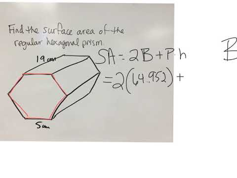 Surface area of a hexagonal prism