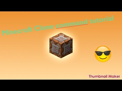[Minecraft] Create moving objects with command blocks and clone