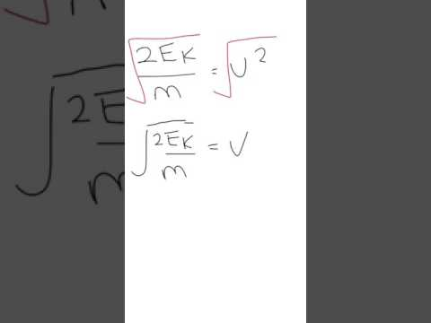 Rearranging Kinetic Energy Formula