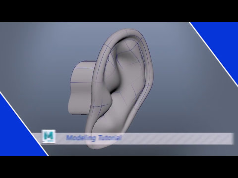 How to Modeling Human Ear in Maya 2017