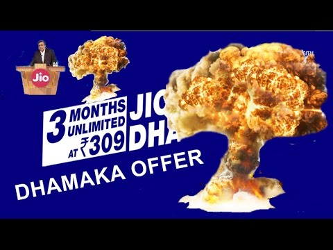 11 April jio Dhan Dhana Dhan offer launch.