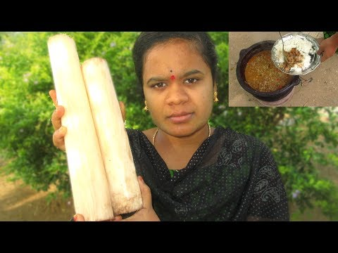 Cooking BANANA STEM CURRY Recipe in My Village | Prepared By Wife | VILLAGE FOOD