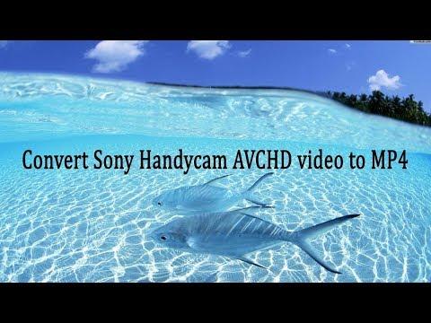 Convert Sony Handycam AVCHD video to MP4