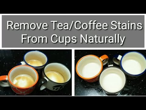 How To Remove Tea/Coffee Stains from Cups|Cups Organizing Ideas|zetajj