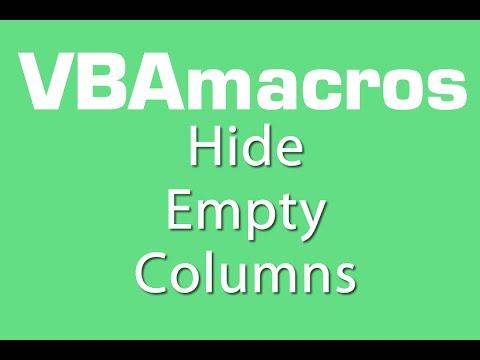 Hide Empty Columns - VBA Macros - Tutorial - MS Excel 2007, 2010, 2013