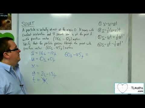 A-Level Maths 2017 Q3-18 SUVAT: 2D Example 5