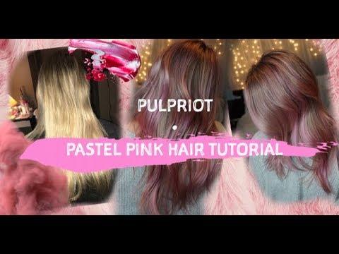 PULPRIOT PASTEL PINK HAIR | DYSON HAIR DRYER
