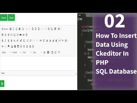 How To Insert Data Using  Ckeditor In  PHP | SQL Database