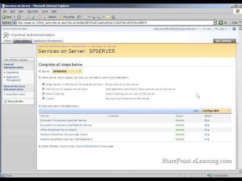 Initial Configuration of a new SharePoint 2007 Installation