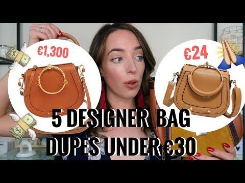 5 DESIGNER DUPE BAGS UNDER €30! 👜  PRADA, CHLOE, CHANEL, LOUIS VUITTON | CIARA O DOHERTY