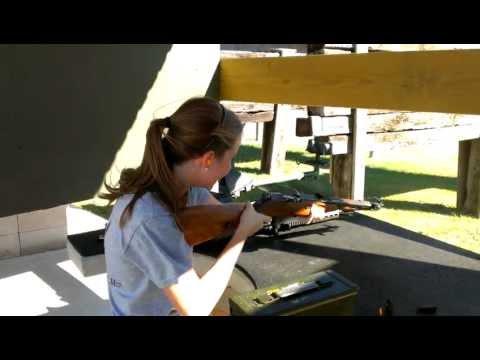 Girl Shoots Mosin Nagant m44