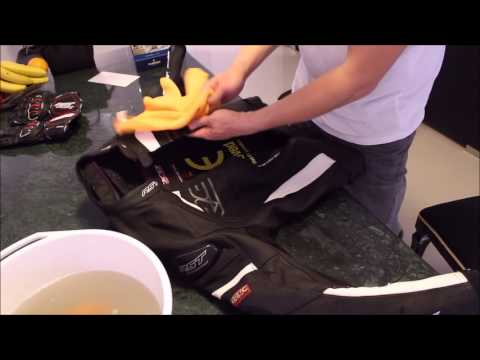 How to clean and condition Motorcycle Leather Jacket and gloves