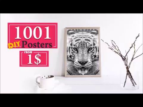 DIY home wall decor - Print your own poster. Retro, typography, Vintage, Animal, Graphic, Nature.
